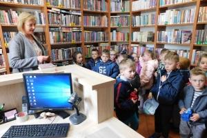 Odwiedziny przedszkolaków w Bibliotece 7 - 10. 05.2019r.